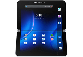 MICROSOFT Surface Duo 2, Convertible mit 8,3 Zoll Display, 8 GB RAM, 256 GB SSD, Gletscher