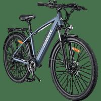 Bicicleta eléctrica - Nilox X7, 25km/h, 250W, Autonomía 45km, 21 Vel. Shimano, Gris