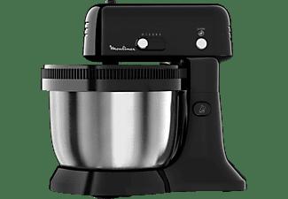 Robot de cocina - Moulinex Oh My Cake, 300 W, 4 L, 5 Velocidades, Acero inoxidable, Negro