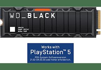 WD _Black™ SN850 mit Kühlkörper - Works with PlayStation™ 5*, Gaming SSD, 500 GB SSD PCI Express, intern
