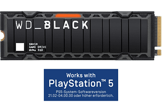 WD _Black™ SN850 mit Kühlkörper - Works with PlayStation™ 5*, Gaming SSD, 2 TB SSD PCI Express, intern