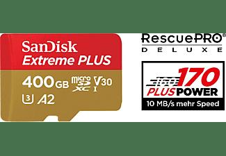 SANDISK Extreme Plus, Micro-SDXC Speicherkarte, 400 GB, 170 MB/s