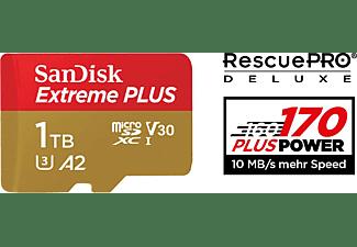 SANDISK Extreme Plus, Micro-SDXC Speicherkarte, 1 TB, 170 MB/s