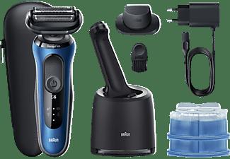 BRAUN Series 6 60-B7200cc + CCR Elektrorasierer mit Reinigungsstation, Präzisionstrimmer, blau