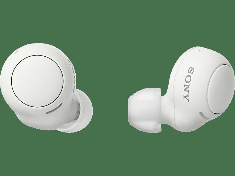 SONY WF-C500 Earbuds, Ladeetui, In-ear Kopfhörer Bluetooth Weiß
