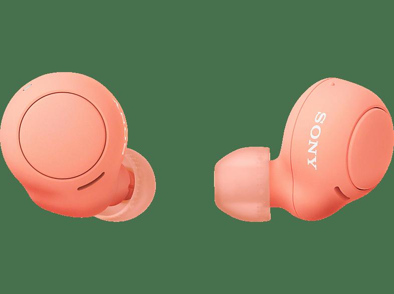 SONY WF-C500 Earbuds, Ladeetui, In-ear Kopfhörer Bluetooth Orange