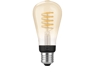 PHILIPS Hue White Ambiance E27 Einzelpack Edison ST64 LED Lampe Warmweiß