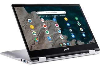 ACER Chromebook Spin 513 CP513-1H-S72Y, Snapdragon 7180c Lite, 4GB, 64GB, 13.3 Zoll Touch FHD, Silber