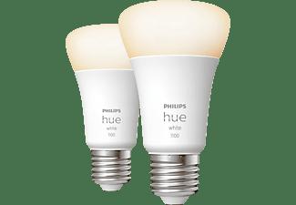 PHILIPS Hue White E27 Doppelpack LED Lampe Warmweiß