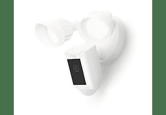 RING Floodlight Cam Wired Plus  - Überwachungskamera, FHD, 2 LED-Flutlichter, WLAN, Nachtsicht, Weiß