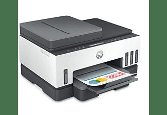 HP Multifunktionsdrucker Smart Tank 7305, 9 S/Min Farbe, ADF, WLAN, Tintentank, Duplex, Schwarz/Weiß