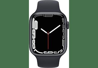 APPLE Watch Series 7 GPS 45mm Aluminiumgehäuse, Sportarmband, Mitternacht