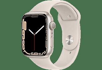 APPLE Watch Series 7 GPS 45mm Aluminiumgehäuse, Sportarmband, Polarstern