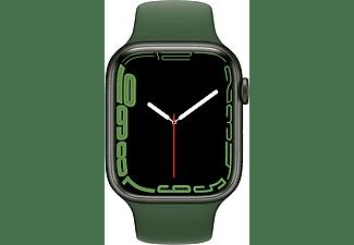 APPLE Watch Series 7 GPS 45mm Aluminiumgehäuse, Sportarmband, Grün/Klee
