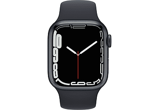 APPLE Watch Series 7 GPS 41mm Aluminiumgehäuse, Sportarmband, Mitternacht