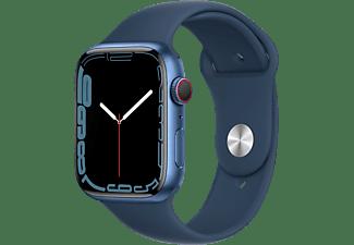 APPLE Watch Series 7 GPS + Cell 45mm Aluminiumgehäuse, Sportarmband, Blau/Abyssblau