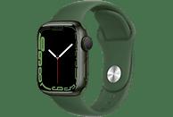 APPLE Watch Series 7 GPS 41mm Aluminiumgehäuse, Sportarmband, Grün/Klee