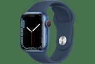 APPLE Watch Series 7 GPS + Cell 41mm Aluminiumgehäuse, Sportarmband, Blau/Abyssblau