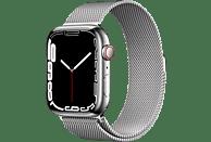 APPLE Watch Series 7 GPS + Cell 45mm Edelstahlgehäuse, Milanaisearmband, Silber