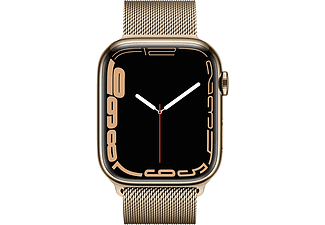 APPLE Watch Series 7 GPS + Cell 45mm Edelstahlgehäuse, Milanaisearmband, Gold