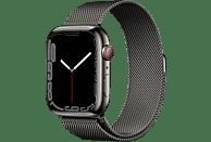 APPLE Watch Series 7 GPS + Cell 45mm Edelstahlgehäuse, Milanaisearmband, Graphit