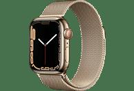 APPLE Watch Series 7 GPS + Cell 41mm Edelstahlgehäuse, Milanaisearmband, Gold