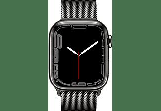 APPLE Watch Series 7 GPS + Cell 41mm Edelstahlgehäuse, Milanaisearmband, Graphit