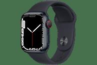 APPLE Watch Series 7 GPS + Cell 41mm Aluminiumgehäuse, Sportarmband, Mitternacht