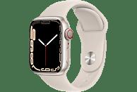 APPLE Watch Series 7 GPS + Cell 41mm Aluminiumgehäuse, Sportarmband, Polarstern