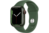 APPLE Watch Series 7 GPS + Cell 41mm Aluminiumgehäuse, Sportarmband, Grün/Klee