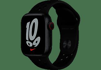 APPLE Watch Nike Series 7 GPS + Cell 41mm Aluminiumgehäuse, Sportarmband, Mitternacht/Anthrazit/Schwarz
