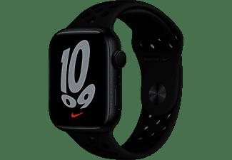 APPLE Watch Nike Series 7 GPS 45mm Aluminiumgehäuse, Sportarmband, Mitternacht/Anthrazit/Schwarz