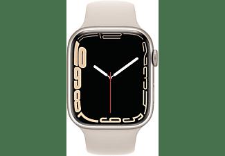 APPLE Watch Series 7 (GPS) 45mm Smartwatch Fluorelastomer, 140 - 220 mm, Armband: Polarstern, Gehäuse: Polarstern