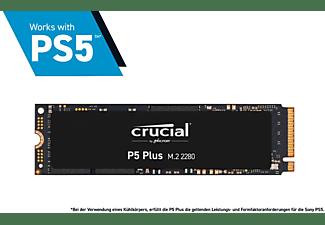 CRUCIAL P5 Plus, Playstation 5 kompatibel, SSD intern, 2 TB SSD M.2 via NVMe, intern