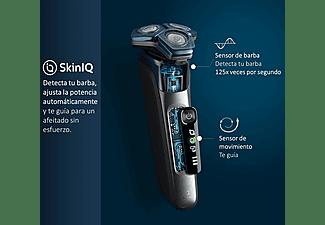 Afeitadora - Philips S7000 S7786/59, Tecnología SkinIQ, Sensor de barba y movimiento, Protección avanzada