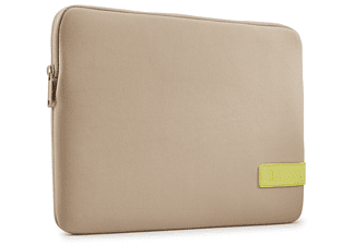 CASE LOGIC Notebookhülle Reflect für MacBook Pro, 13 Zoll, Sleeve, Plaza Taupe/Sun-Lime