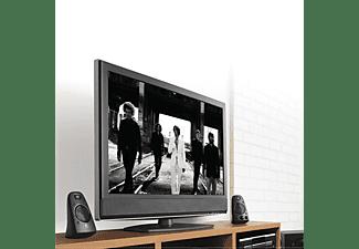 LOGITECH Speaker System Z623 mit Subwoofer, Satter Bass, 400 Watt Spitzenleistung, Schwarz