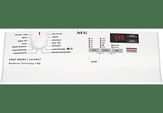 Lavadora carga superior - AEG L6TBK621, 6 kg, 1200 rpm, 20 programas,  Apertura suave, 56 dB, Blanco