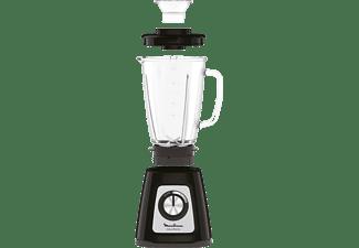Batidora de vaso - Moulinex LM435810, 1.75L, 6 Cuchillas, Cristal, Negro