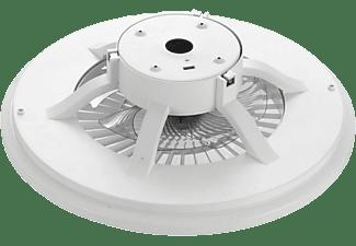 Lámpara - Muvit iO MIOCLF001, De techo, Con ventilador, WiFi, Compatible con Asistentes de Voz, Blanco