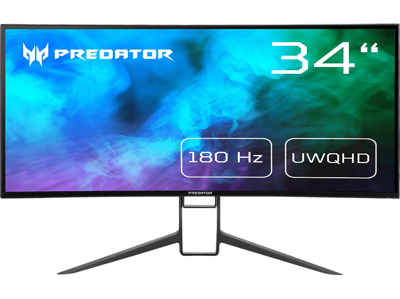 ACER X34GS 34 Zoll QHD Gaming Monitor 1 ms Reaktionszeit, 180Hz Overclock DP Typ-C, 144Hz DisplayPort, 100Hz HDMI