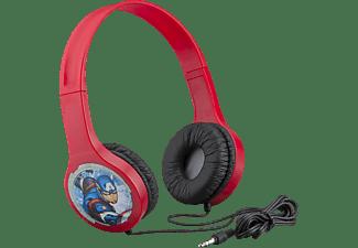 EKIDS Marvel Avengers Kinder Kopfhörer mit Lautstärkebegrenzung & flexiblem Kopfband, On-ear Kindgerechte Kopfhörer Rot