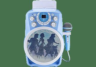 EKIDS Disney Eiskönigin 2 / Frozen 2 CDG-Karaoke Maschine mit Bluetooth & LED-Lichteffekten für Kinder Karaoke-Maschine, Blau
