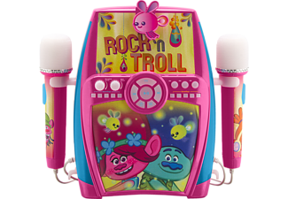 EKIDS Trolls Karaoke Maschine mit 2 Mikrofonen und Aufnahmefunktion für Kinder Karaoke-Maschine, Rosa, Pink, Blau