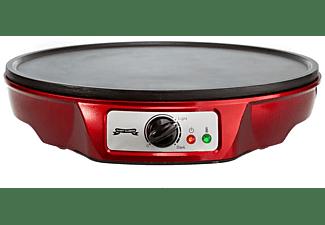 GADGY Crêpes Maker mit 30cm Durchmesser, Antihaftbeschichtung & Kochzubehör in cooler Retro-Optik Crêpes Maker Rot