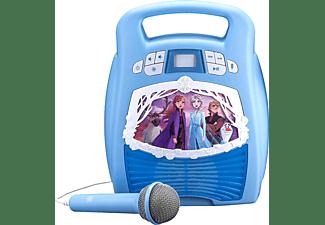 EKIDS Disney Eiskönigin 2 / Frozen 2 MP3-Bluetooth Karaoke Maschine mit Mikrofon & LED-Lichteffekten Karaoke-Maschine, Blau