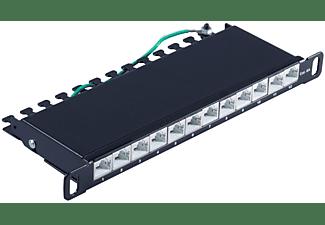 "S/CONN MAXIMUM CONNECTIVITY Slim Patchpanel Cat.6A, 12 Port 0,5HE, 10"" Patchpanel"