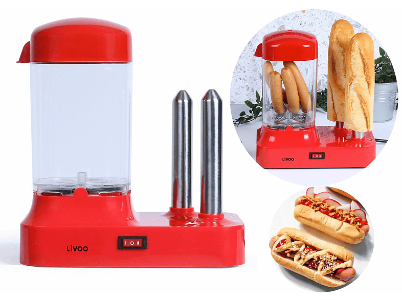 LIVOO Hot-Dog-Maschine
