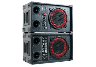 FENTON SPB-8 PA-Lautsprecher-Set, Schwarz