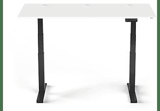 SPECTRAL JUST-OFFICE Elektrisch höhenverstellbarer Schreibtisch. Tischplatte 160 x 80cm Snow. Fußgestell 64 - 130cm Black Höhenverstellbarer Schreibtisch